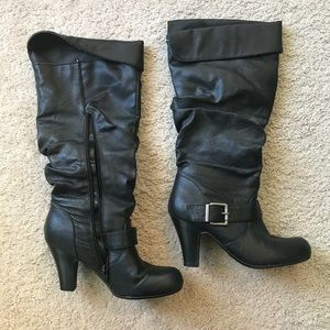 Hot kiss Marley slouchy boot 6.5 Black